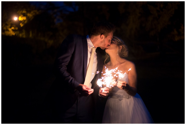 Lancashire-Wedding-Photographer-2015-in-pictures, bride and groom kissing in the dark with sparklers