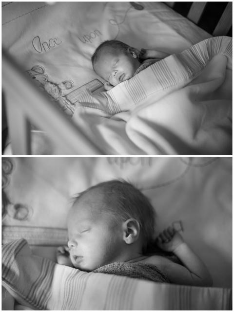 sleeping baby boy, baby boy in his cot, sleeping newborn