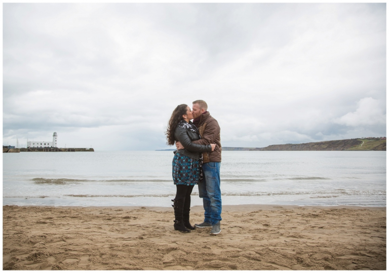 scarborough beach engagement photography, couple photos, marriage, couple kissing on the beach