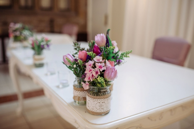 wedding flowers for ceremony at stirk house in gisburn